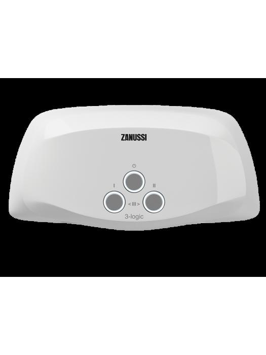 Проточный электрический водонагреватель Zanussi серия 3-logic TS (6,5 kW) - душ+кран