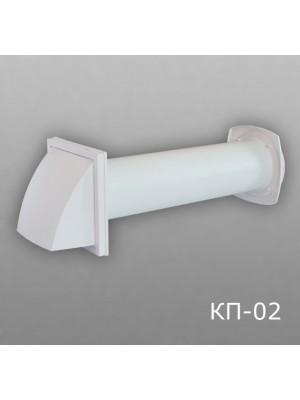12,5КП1-02 Клапан приточный D125 (толщина стены до 1м)